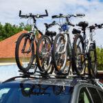 4 rowery na dachu samochodu