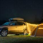 Wyjazd samochodem pod namiot na łono przyrody